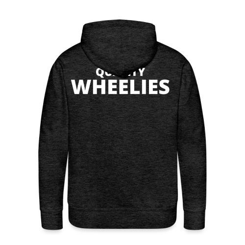 Quality Wheelies Hoodie Front - Premium hettegenser for menn