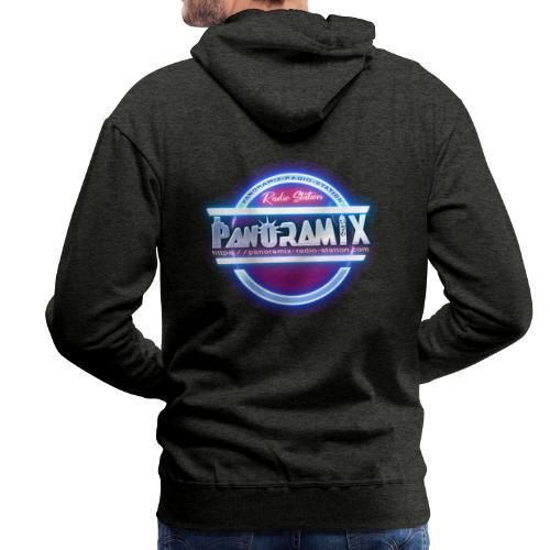 LOGO bleu et rose 1 FLUO PANORAMIX - Sweat-shirt à capuche Premium pour hommes