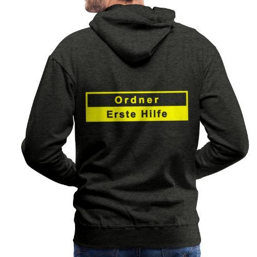 Ordner & Erste Hilfe, gelb - Männer Premium Hoodie