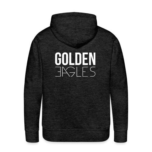 Logo Golden Eagles #White - Sweat-shirt à capuche Premium pour hommes