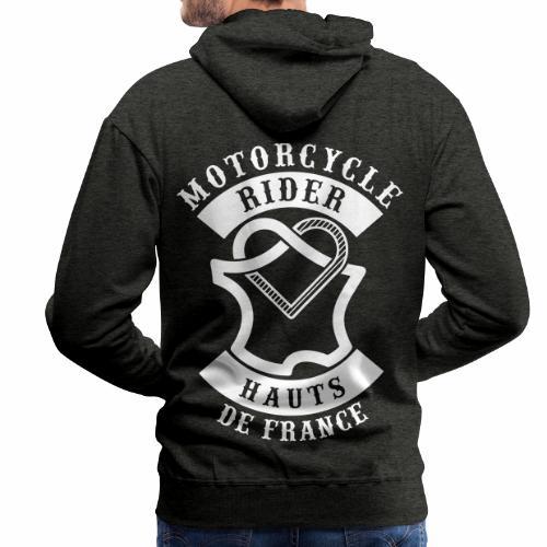 Motorcycle Rider Hauts-de-France 'Flag' - Sweat-shirt à capuche Premium pour hommes