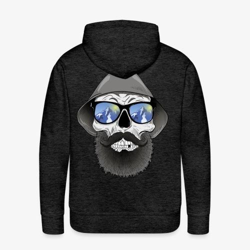 Totenkopf mit sonnenbrille und hut - Männer Premium Hoodie
