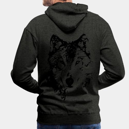 WOLF_03 - Bluza męska Premium z kapturem