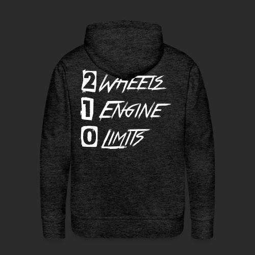 2wheels 1engine 0limitsv2 - Männer Premium Hoodie