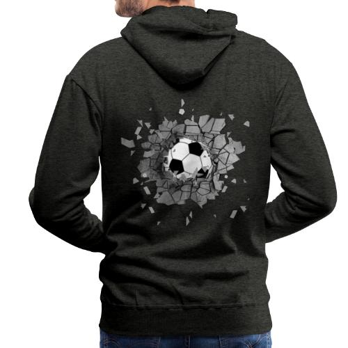 Football durch wand - Männer Premium Hoodie