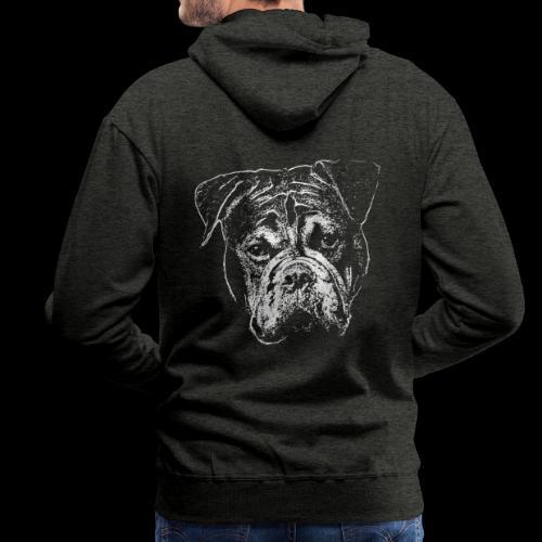 Continental Bulldog Kopf Weiss-BOBBY - Männer Premium Hoodie