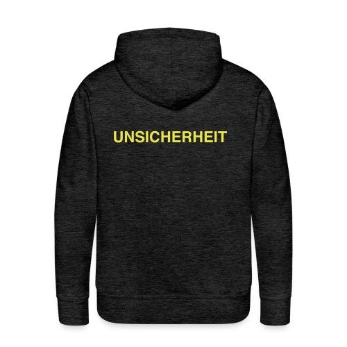 UNSICHERHEIT t-shirt (gelb auf schwarz) - Männer Premium Hoodie
