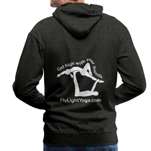 White: Get high with your friends - AcroYoga - Men's Premium Hoodie