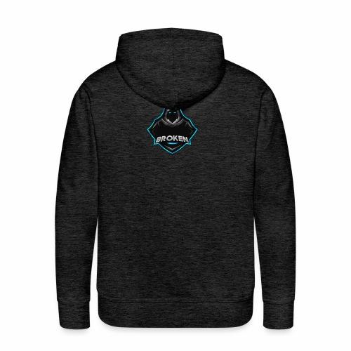Collection Mascotte │ Br0Ken - Sweat-shirt à capuche Premium pour hommes