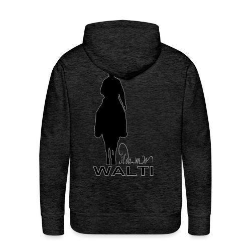 adamo sill schrift klein - Sweat-shirt à capuche Premium pour hommes