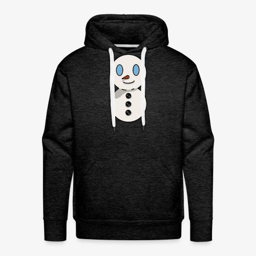 bonhomme de neige - Sweat-shirt à capuche Premium pour hommes