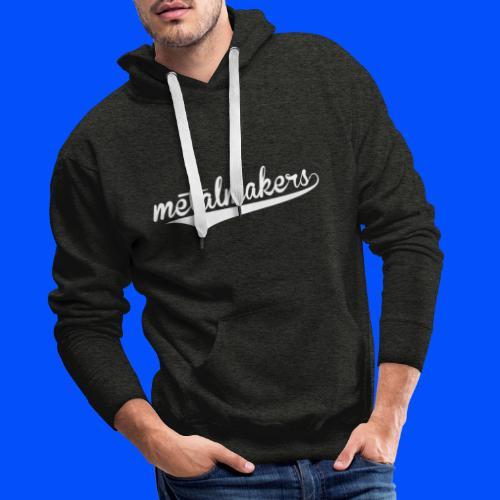 logo MM blanc big - Sweat-shirt à capuche Premium pour hommes