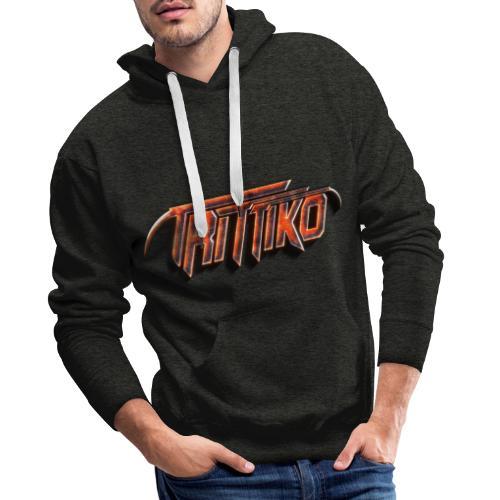 Trittiko Logo Rot 3D - Männer Premium Hoodie