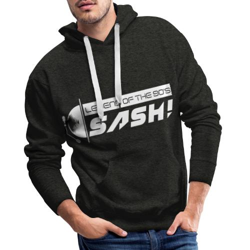 DJ SASH! Turntable Logo - Men's Premium Hoodie