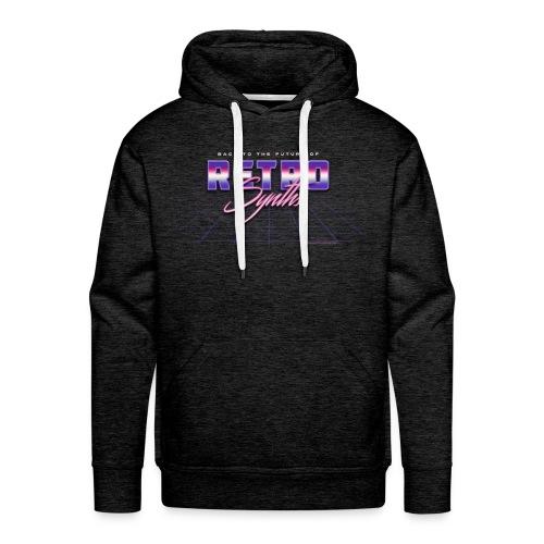 Retro SYNTHS - Sweat-shirt à capuche Premium pour hommes