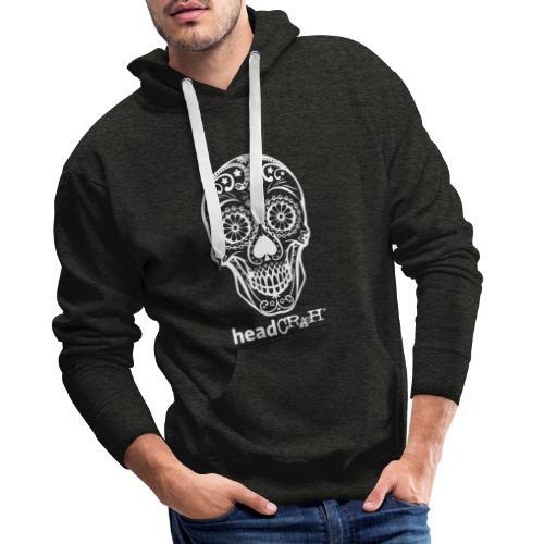Skull & Logo white - Männer Premium Hoodie