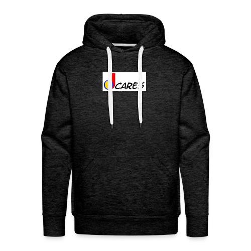 Joe Cares Logo light - Männer Premium Hoodie