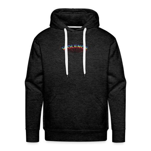 VIOLENCE typographie - Sweat-shirt à capuche Premium pour hommes