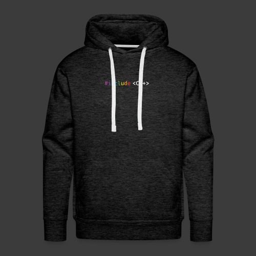 rainbow for dark background - Men's Premium Hoodie