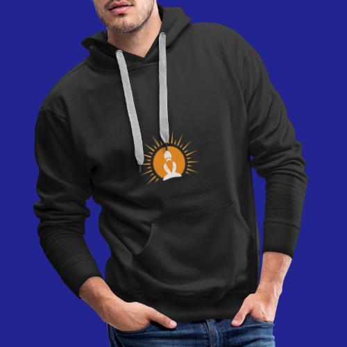 Guramylyfe logo white no text - Men's Premium Hoodie