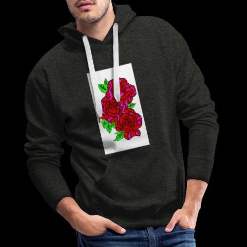 Roses with a kente design - Men's Premium Hoodie