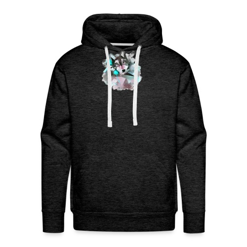 kisspng gray wolf geometric shape geometry animal - Männer Premium Hoodie