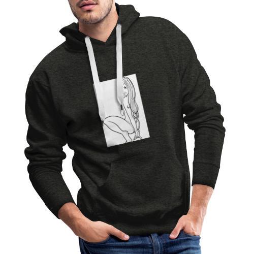 sexy girl - Sweat-shirt à capuche Premium pour hommes
