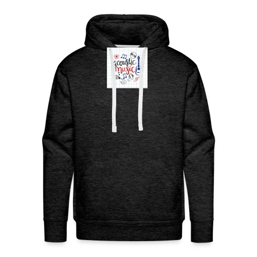 colorful music background - Männer Premium Hoodie