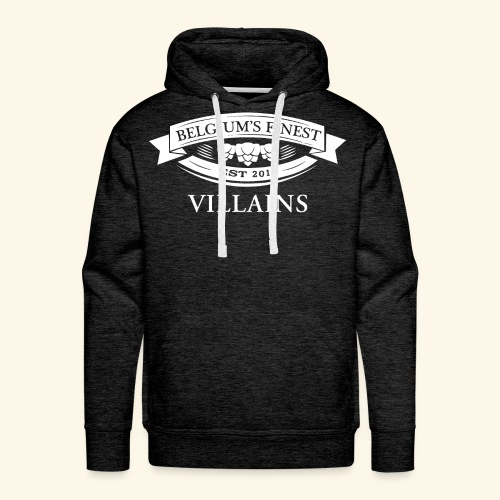BelgiumFinestEst2015Villains full white - Men's Premium Hoodie