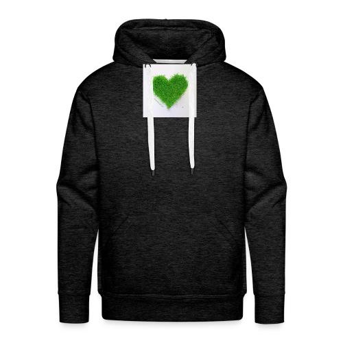 Herzrasen Button - Männer Premium Hoodie