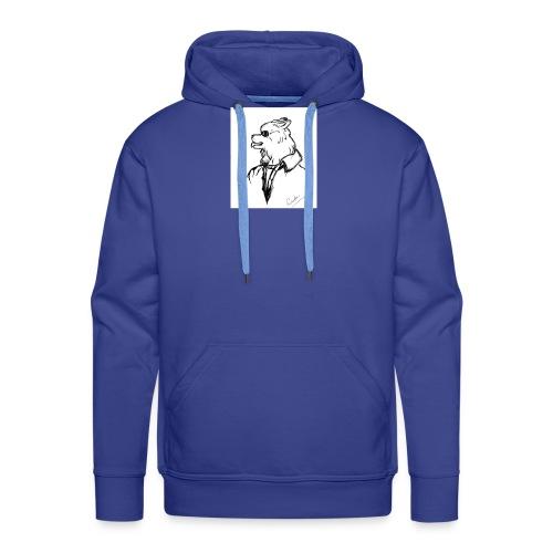 InkedThe Dog style bak LI - Sudadera con capucha premium para hombre