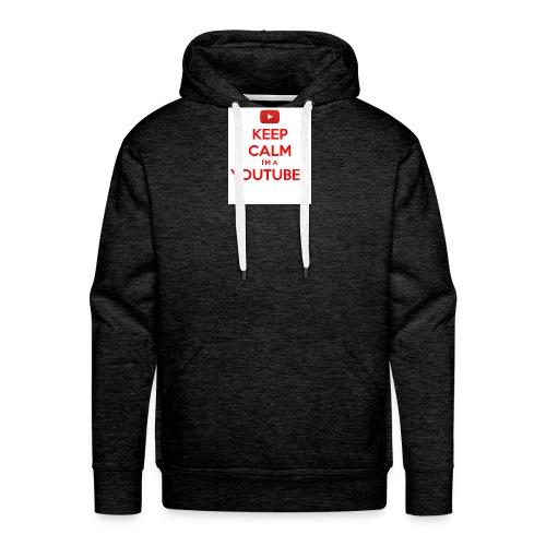 keep calm im a youtuber - Mannen Premium hoodie