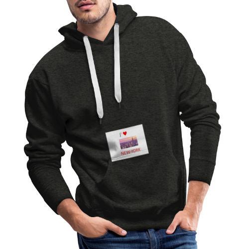 new york - Sweat-shirt à capuche Premium pour hommes