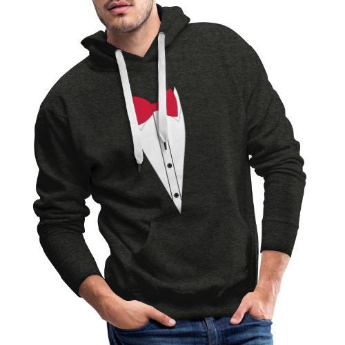 Anzug mit Fliege - Männer Premium Hoodie