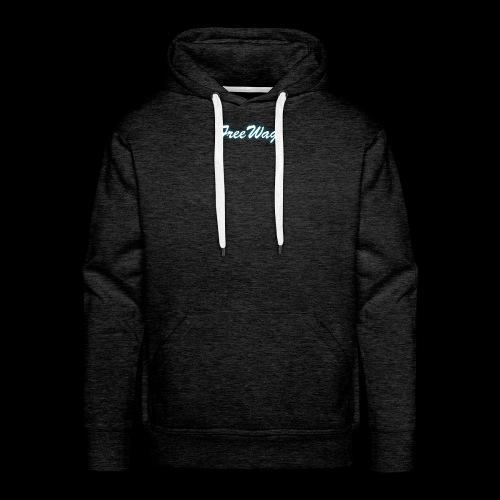 FreeWag Blanc - Sweat-shirt à capuche Premium pour hommes