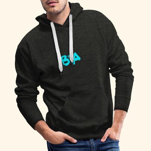 BTA (azul claro) - Sudadera con capucha premium para hombre