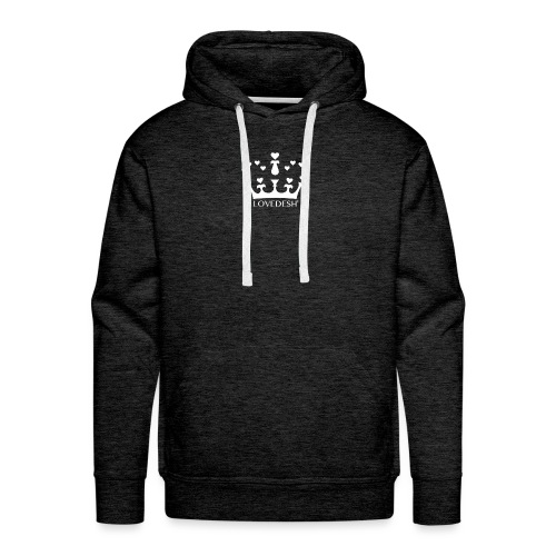 White Lovedesh Crown, Ethical Luxury - With Heart - Men's Premium Hoodie