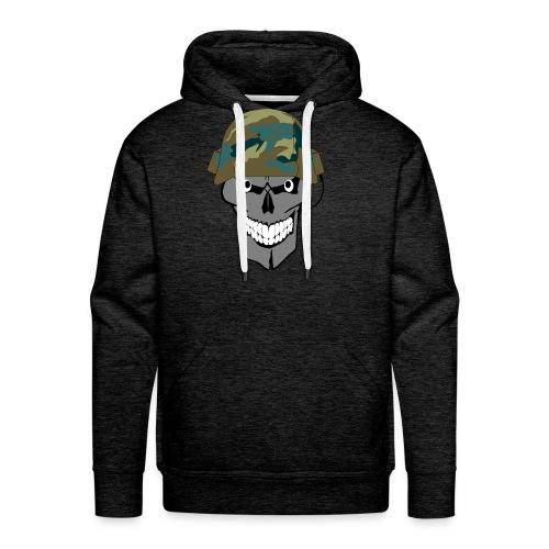 craneo militar - Sudadera con capucha premium para hombre