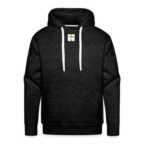 croix_chretienne - Sweat-shirt à capuche Premium pour hommes
