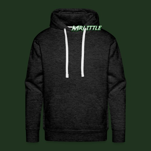 A simple text which fits on dark colours. - Men's Premium Hoodie