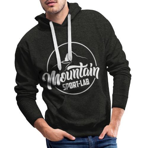 BLANC MOUNTAINSPORTLABgrand - Sweat-shirt à capuche Premium pour hommes