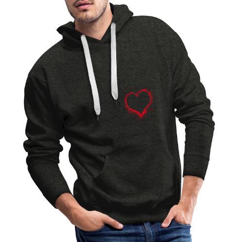 Herz Liebe Geschenk Freunde - Männer Premium Hoodie