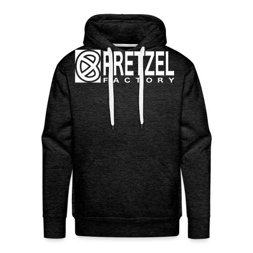 Pretzel Factory Logo Blanc - Sweat-shirt à capuche Premium pour hommes