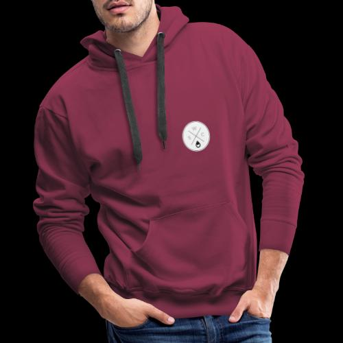WSC Hipster-Logo rund weiß - Männer Premium Hoodie