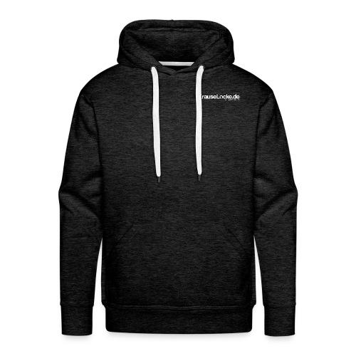 KrauseLocke Logo FINAL mit Claim weiss - Männer Premium Hoodie