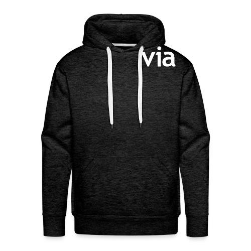 via white png - Mannen Premium hoodie