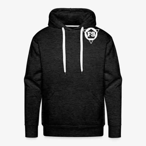 False 9 official logo white png - Men's Premium Hoodie