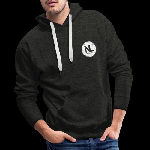 White Nick Leys Logo Rund - Männer Premium Hoodie