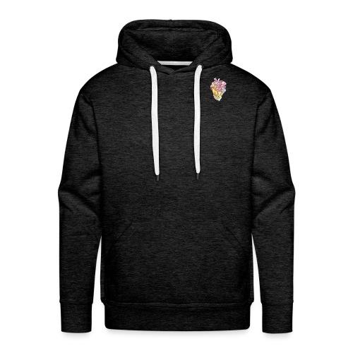 Corazón colores - Sudadera con capucha premium para hombre