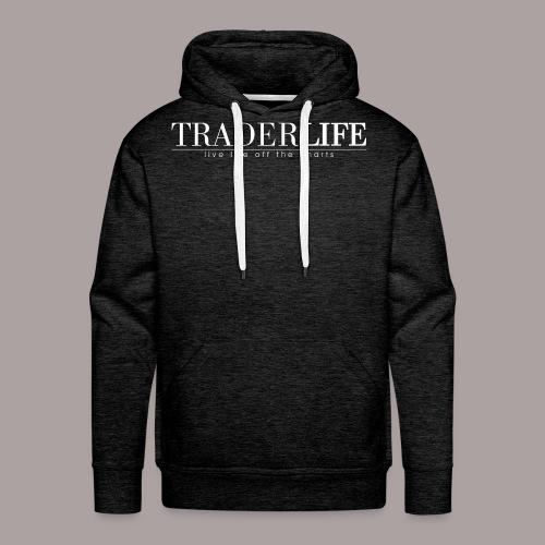 TraderLife Logo White - Men's Premium Hoodie